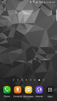 Black Polygon Backgrounds HD apk screenshot