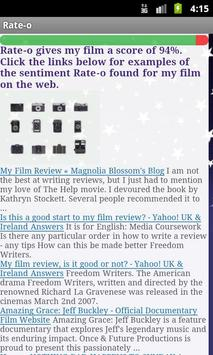 Rate-o Reviews apk screenshot