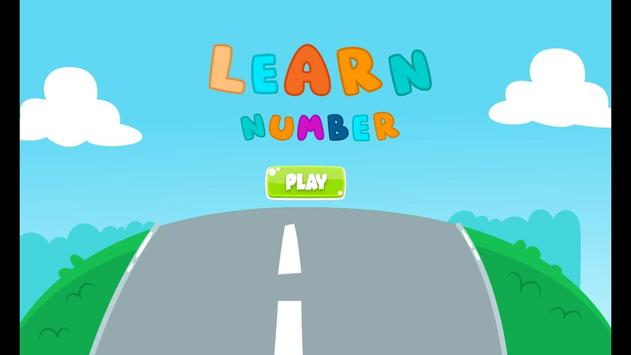 Learn numbers for toddlers poster