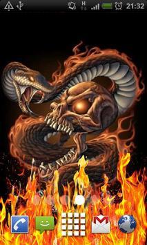 Rattlesnake Skull Flames LWP poster