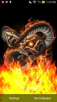 Rattlesnake Skull Flames LWP apk screenshot