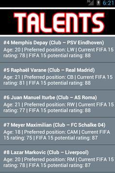 Talents for FIFA 15 apk screenshot