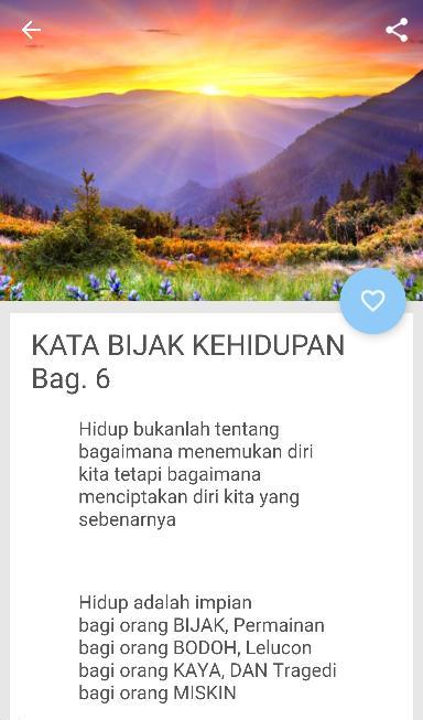 Kata Bijak Pemberi Semangat Hidup For Android Apk Download