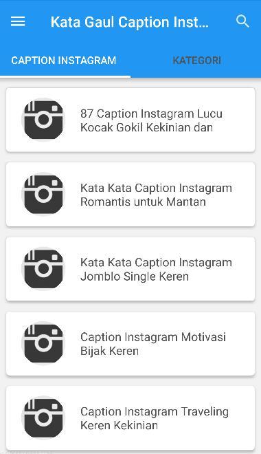 Kata Kata Gaul Caption Instagram Kekinian For Android Apk