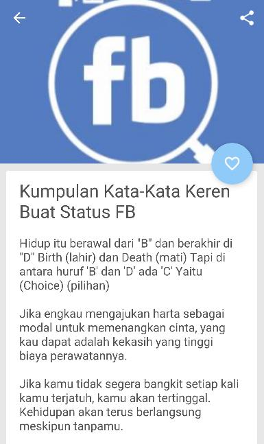 Status Fb Keren Banyak Like For Android Apk Download