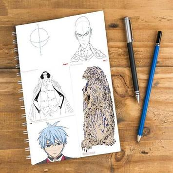 how to draw all anime characters poster