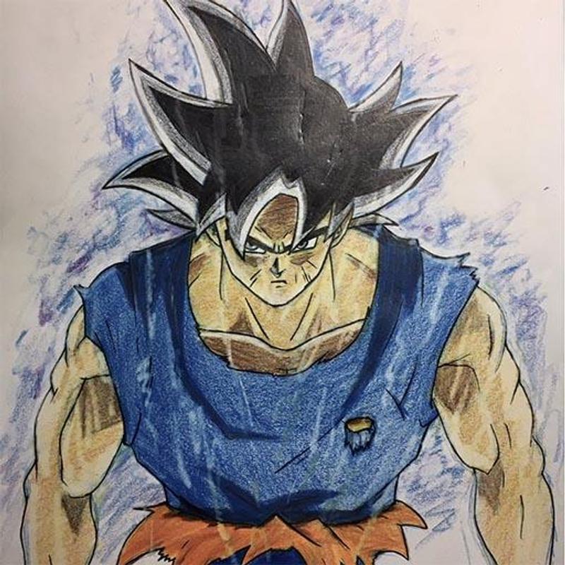 how to draw goku ultra instinct