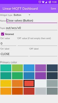 Linear MQTT Dashboard スクリーンショット 6