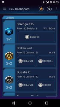 Dashboard for Starcraft 2 apk screenshot