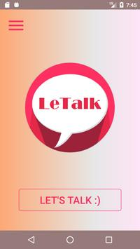 LeTalk - Find someone to talk anonymously poster