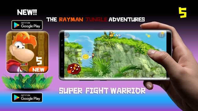 the rayman Super adventures jungle dash poster