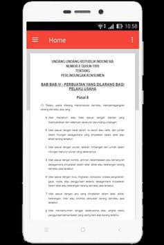 UU Perlindungan Konsumen (Nomor 8 Tahun 1999) apk screenshot