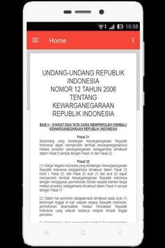 UU Kewarganegaraan (Nomor 12 Tahun 2006) screenshot 5