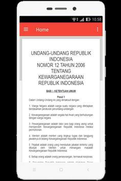 UU Kewarganegaraan (Nomor 12 Tahun 2006) screenshot 1