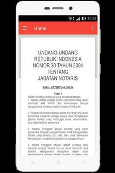 UU Jabatan Notaris (Nomor 30 Tahun 2004) apk screenshot