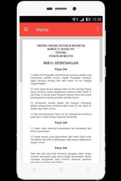 UU Peradilan Militer (Nomor 31 Tahun 1997) apk screenshot