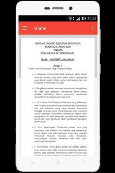 UU Perjanjian Internasional (Nomor 24 Tahun 2000) apk screenshot