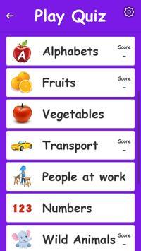 Kids Preschool Learning & Quiz screenshot 5