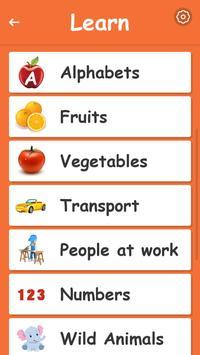 Kids Preschool Learning & Quiz screenshot 17