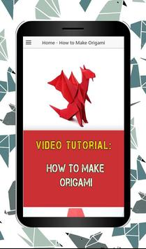 How to make Origami poster
