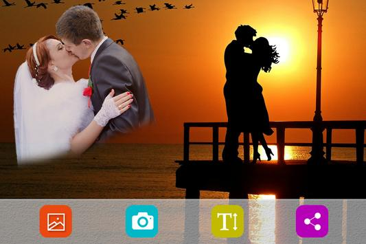 Romantic photo frames screenshot 1