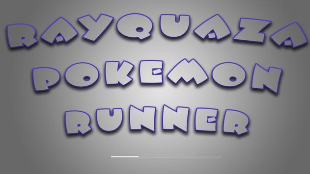 rayquaza pokemom runner poster