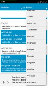 Azerbaijani Dictionary apk screenshot