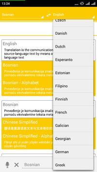 Bosnian Dictionary Translator apk screenshot