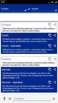 Croatian Dictionary Translator apk screenshot