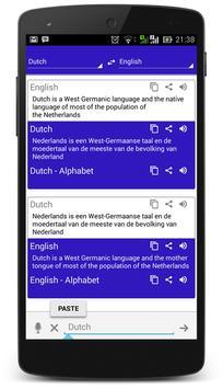 Dutch Dictionary Translator apk screenshot