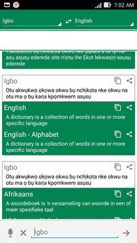 Igbo Dictionary Translator poster