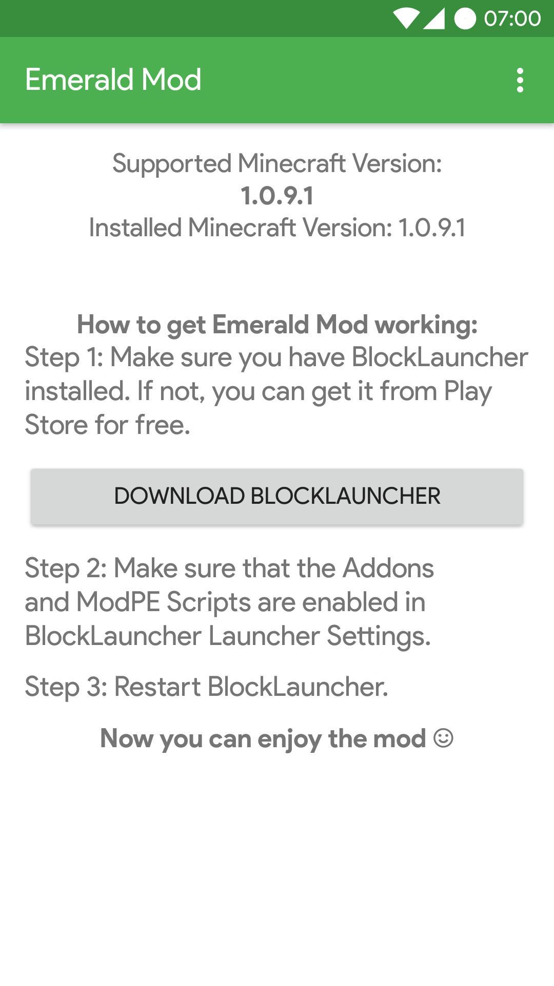 emerald mod 1.7 10