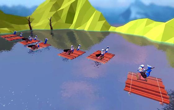 Raft Battle Simulator apk screenshot