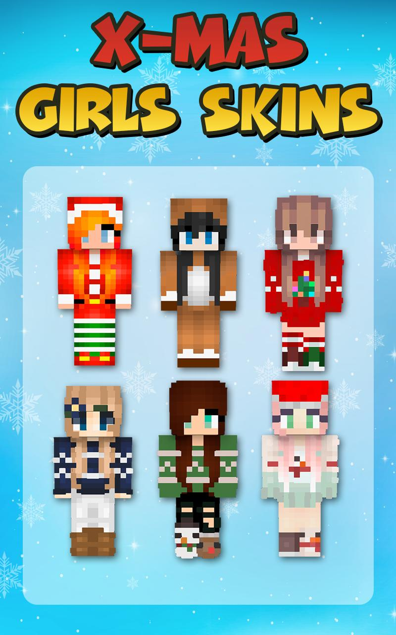Minecraft Christmas Skins.Christmas Girls Skins For Minecraft Pe For Android Apk