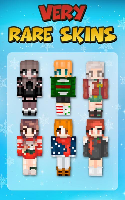 La Navidad De Las Niñas Skins Para Minecraft PE For Android APK - Skin para minecraft pe de navidad