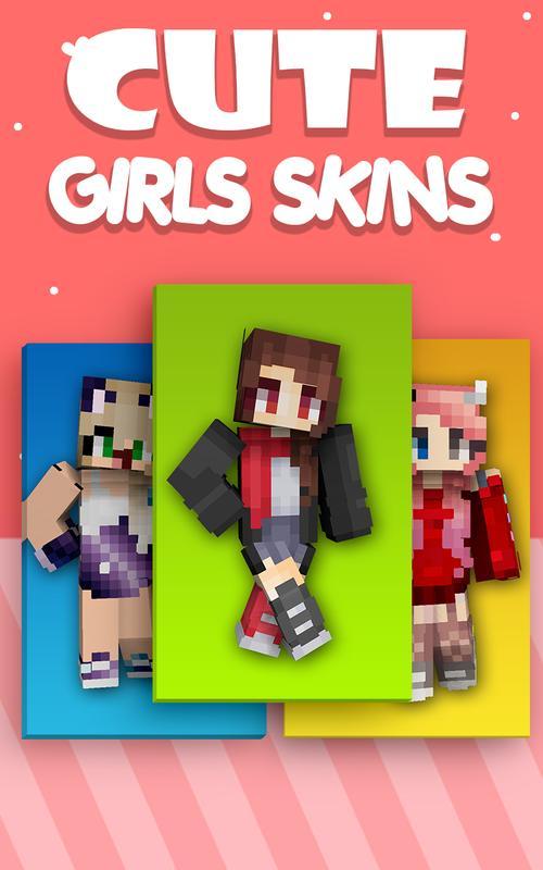 Niedliche Mädchen Skins Für Minecraft PE Für Android APK Herunterladen - Skins fur minecraft madchen
