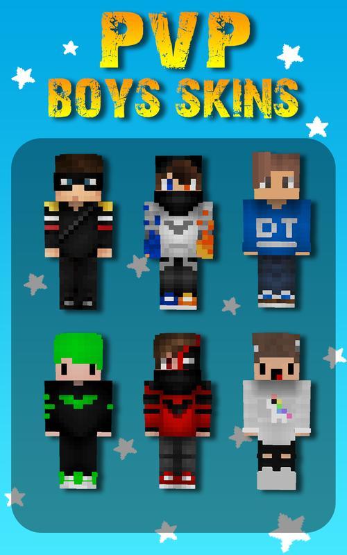 PvPSkins Für Minecraft PE Für Android APK Herunterladen - Skins fur minecraft pvp