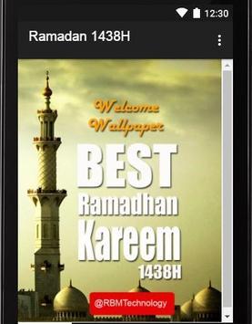 Ramadan Kareem 1438H poster
