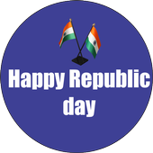 Republic day wishes icon