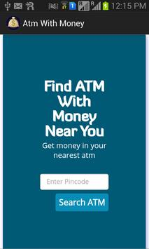 ATM with money poster