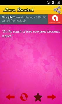 Love Quotes screenshot 1