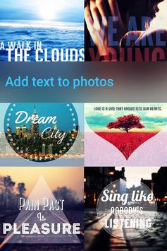 Font Studio- Photo Texts Image poster
