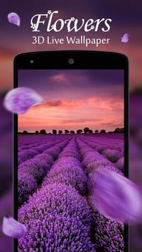 Flowers 3D Live Wallpaper poster