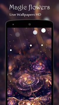 Magic flowers Live Wallpaper poster