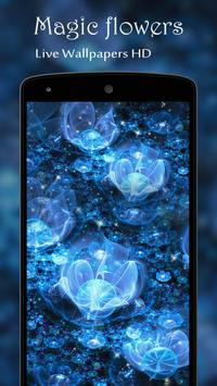 Magic flowers Live Wallpaper apk screenshot