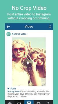 No Crop Video Editor Instagram apk screenshot