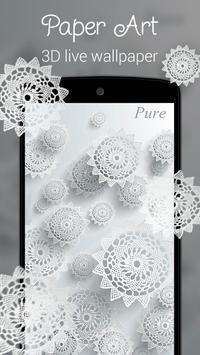 Paper Art 3D live wallpaper poster