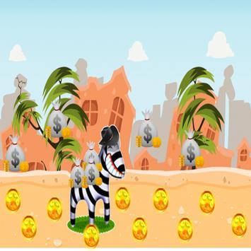 Adventure Zebra Running poster