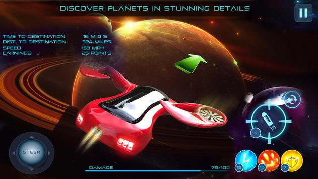 Flying Space Stunt Car apk screenshot