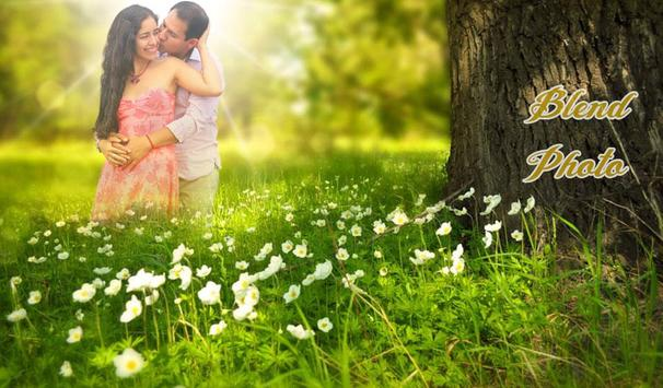 Blend Photo With Flower poster
